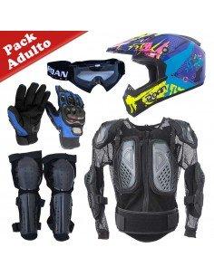 Pack Protecciones motocross adulto con peto - 1