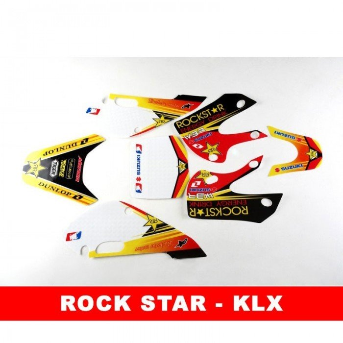 Adhesivos KLX rock star pit bike - Motosapollo.com