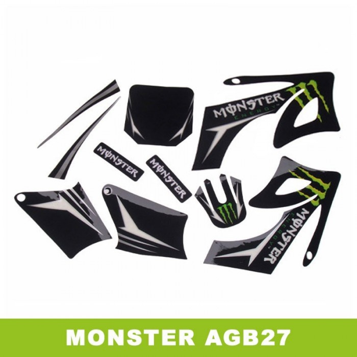 Adhesivos pit bike AGB27 Monster - Motosapollo.com