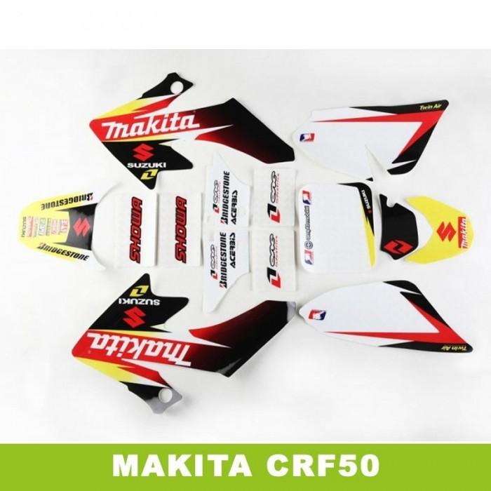 Adhesivos pit bike crf50 makita - Motosapollo.com