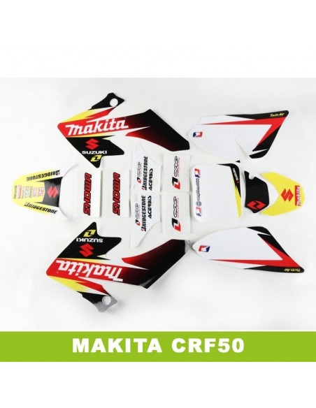 Adhesivos pit bike crf50 makita