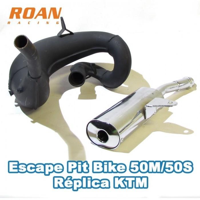 Escape pit bike 50m/50S réplica KTM