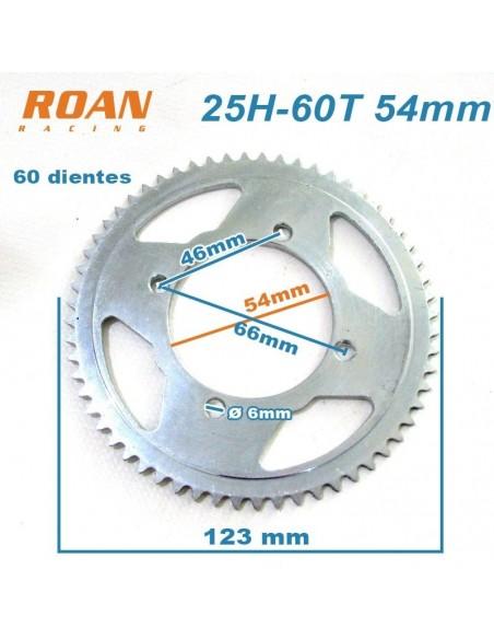 Plato de cadena 25H 60T 54mm