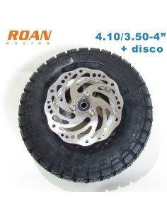 Rueda patinete + disco 4.10/3.50-4""