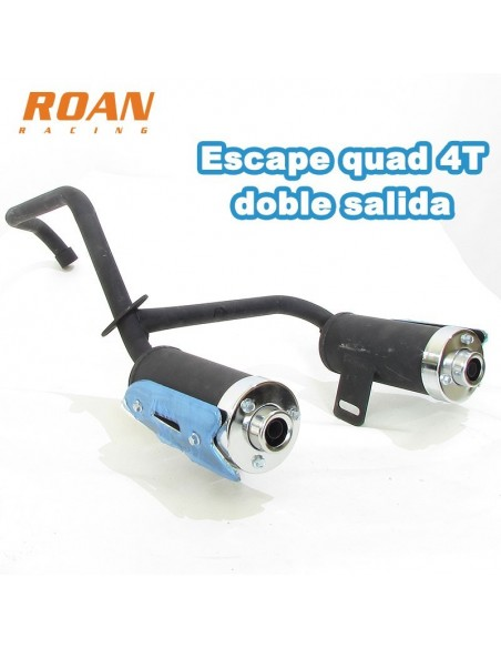 Escape quad doble salida