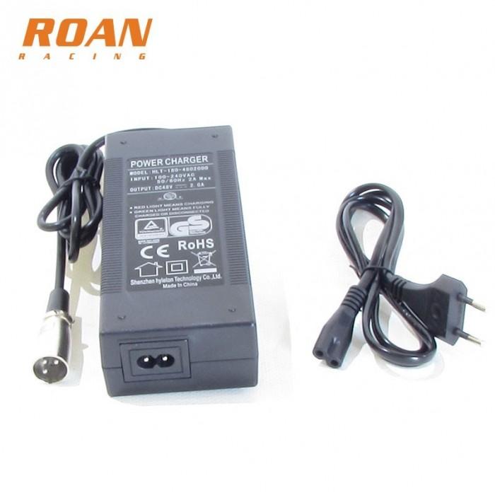 Cargador bateria 48V-2Ah macho - Motosapollo.com