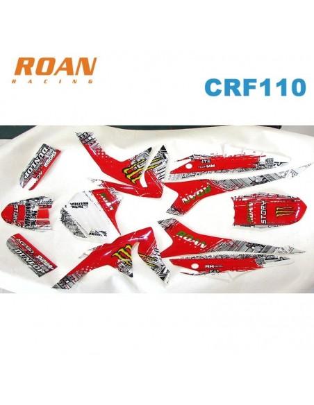 Adhesivos CRF110 Monster-rojo - Motosapollo.com