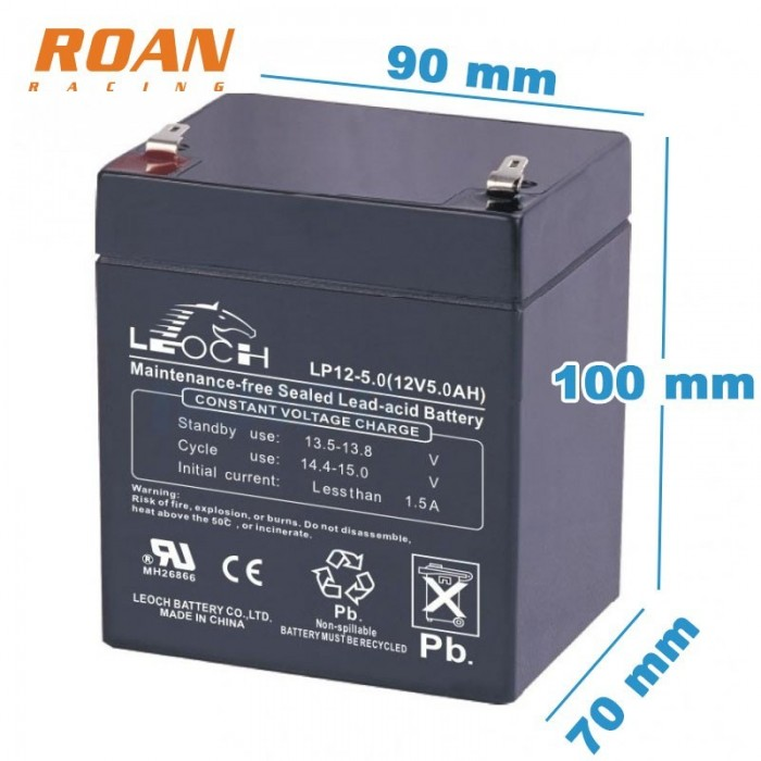 Bateria 12V 5Ah Leoch - Motosapollo.com
