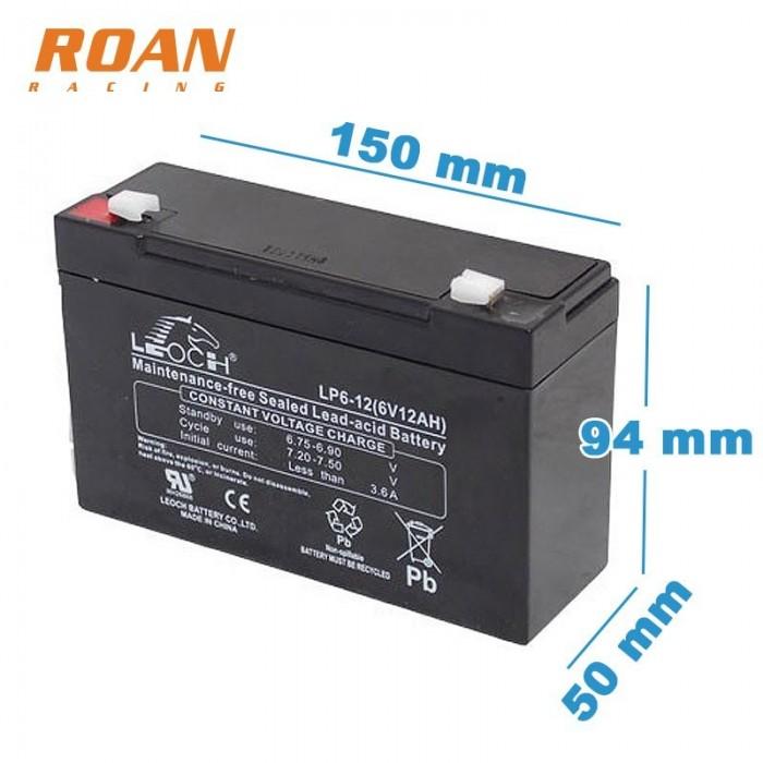 Bateria plomo 6V 12Ah - Motosapollo.com