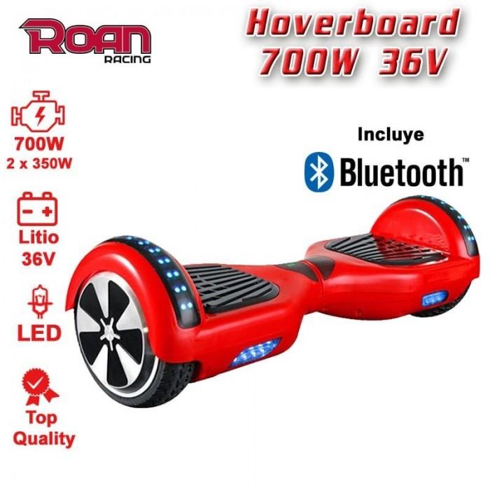 Hoverboard 6´5 700W 36V litio - Motosapollo.com