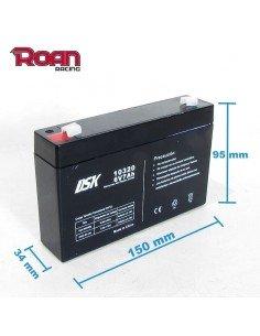 Bateria plomo acido 6V 7Ah DSK - Motosapollo.com
