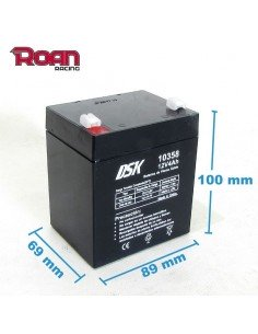 Batería 12V 4Ah plomo acido DSK - Motosapollo.com
