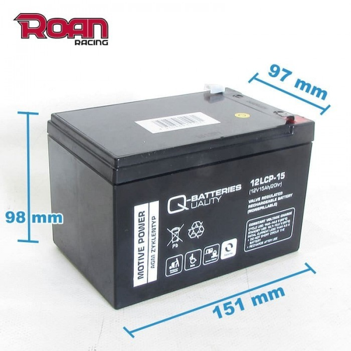 Batería 12V 15Ah plomo-ácido - Motosapollo.com