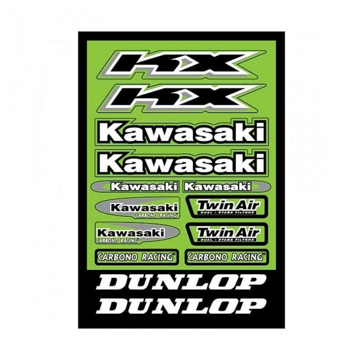Pliego pegatinas kawasaki 32x22 cm - Motosapollo.com