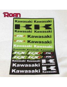 Pliego pegatinas Kawasaki 47x32 cm - Motosapollo.com
