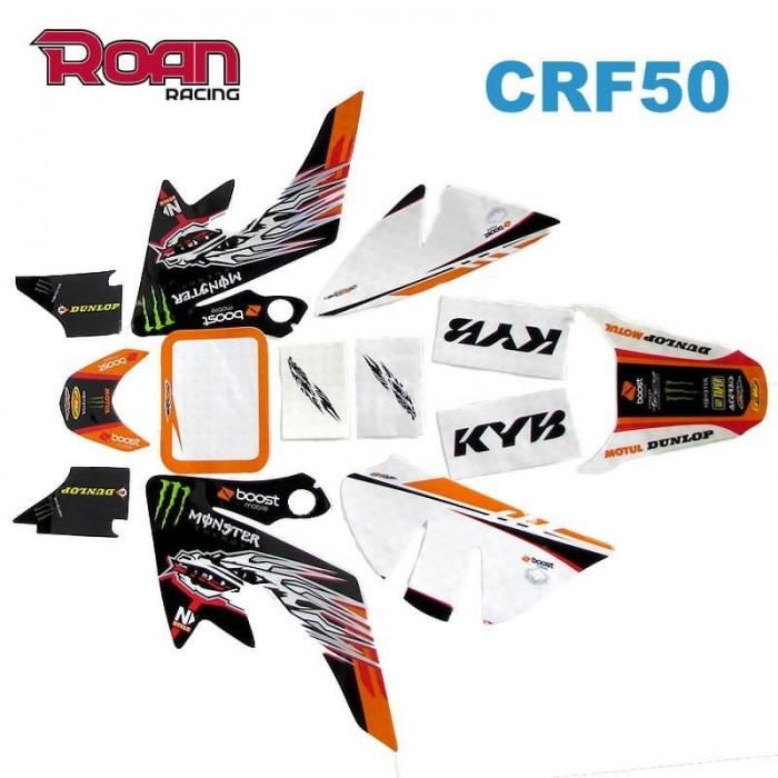 Adhesivos CRF50 Monster naranja - Motosapollo.com