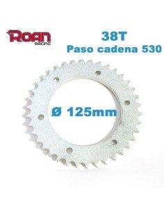 Plato cadena 530 38T 125mm - Motosapollo.com