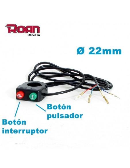Boton pulsador - interruptor 4 pin - Motosapollo.com