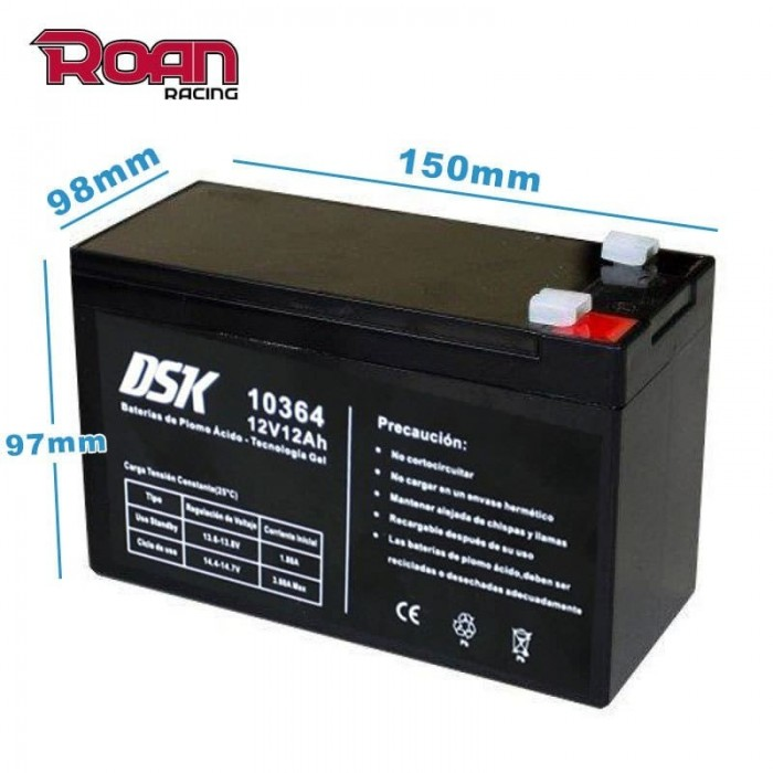 Batería GEL 12v 12Ah DSK - Motosapollo.com