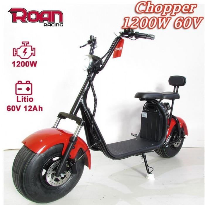 Patinete eléctrico chopper 1200W - Motosapollo.com
