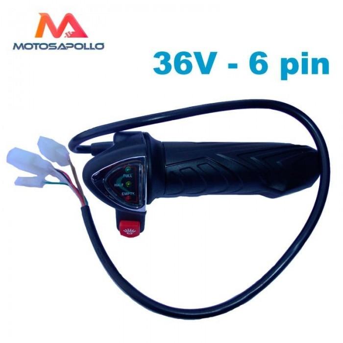 Acelerador eléctrico 36V 6pin - Motosapollo.com