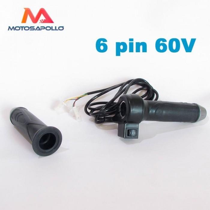 Acelerador eléctrico 60V 6 pin - Motosapollo.com