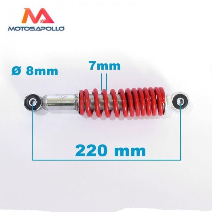 Amortiguador 220mm muelle - Motosapollo.com