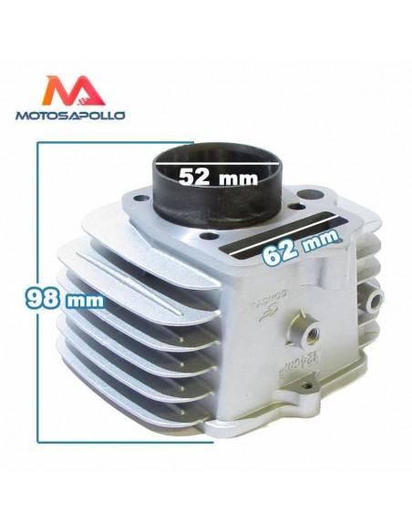 Cilindro 52mm aluminio 124cc - Motosapollo.com