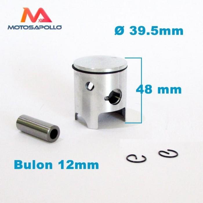 Kit piston 39.5mm 50cc y segmento - Motosapollo.com