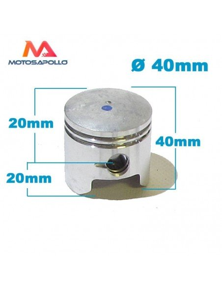 Piston 40 mm 47cc mini moto - Motosapollo.com