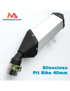 Silencioso pit bike 40mm curvado - Motosapollo.com