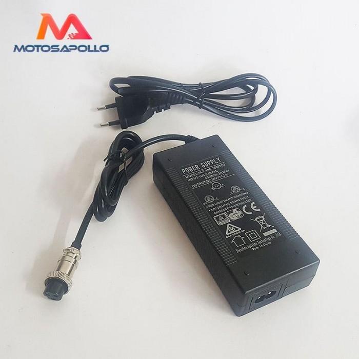 Cargador batería hembra 36V-2A - Motosapollo.com