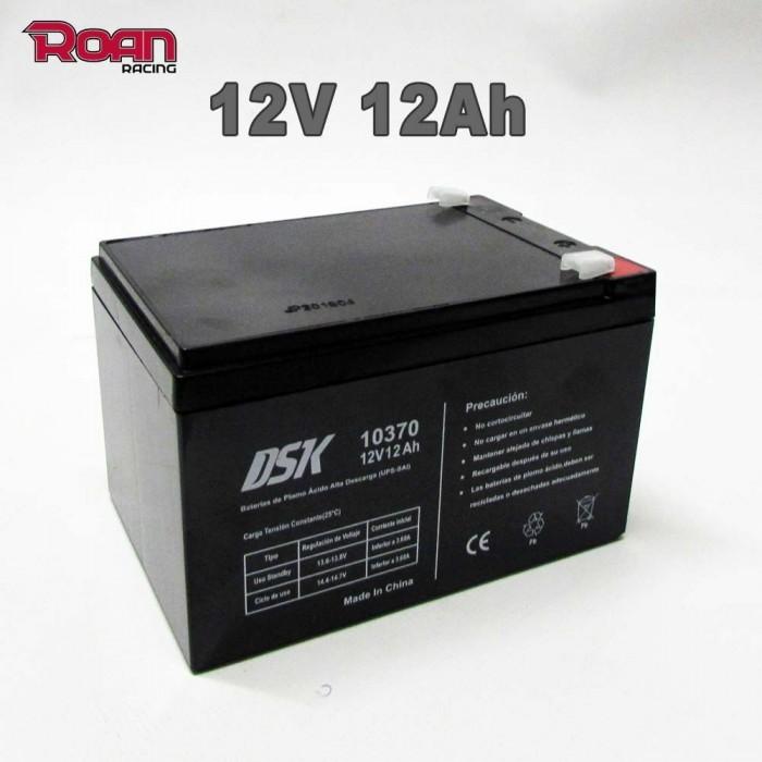 Batería patinete 12V 12Ah alta descarga - Motosapollo.com