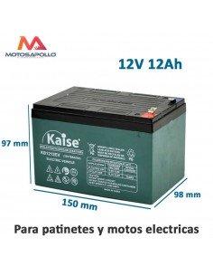 Batería 12V 12Ah Kaise Plomo acido sellada - Motos Apollo