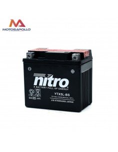 Batería 12V 4Ah plómo ácido Nitro Motosapollo.com
