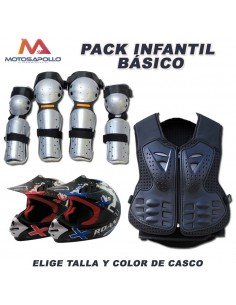 Pack cross infantil Motosapollo.com