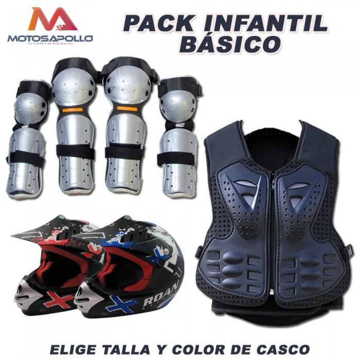 Pack cross infantil Motosapollo.com