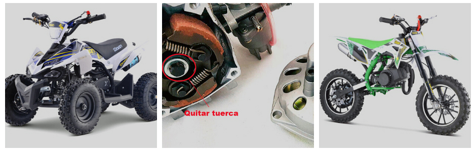 Cambiar embrague motor 2T
