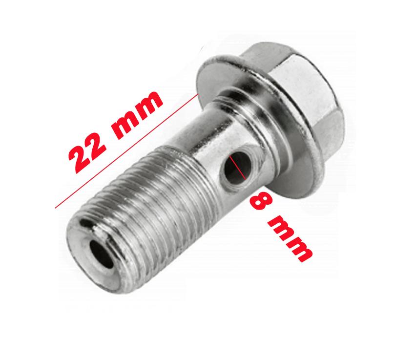 Tornillo racor radiador 8mm x 22mm